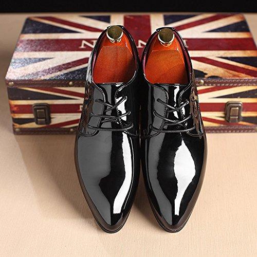 in da stringate da 44 liscia Nero shoes Colore EU pelle Scarpe liscia basse 2018 dimensione Scarpe uomo uomo Xujw White tW18wYqq