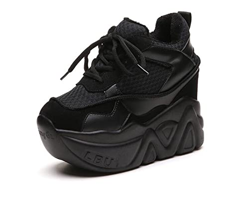 93ae636f62e excellent.c Women s Sports Casual Shoes Women s Super Platform High Top  Thick Floor Elevator Canvas