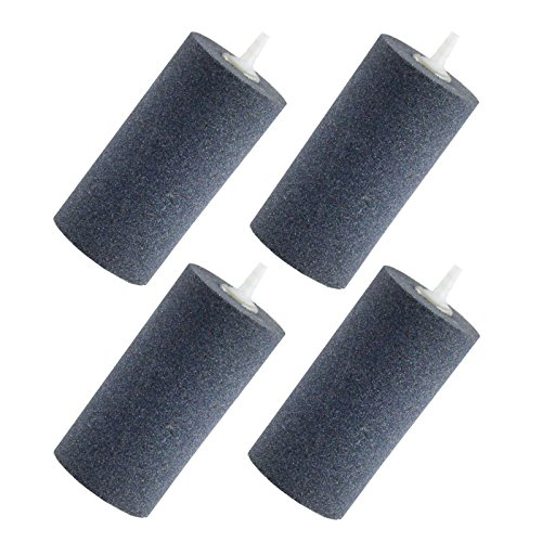 """Aquaneat 4PCS 4""""x2""""Air Stone for Aquarium Fish Tank Aerator Diffuser Hydroponics Cylinder"""