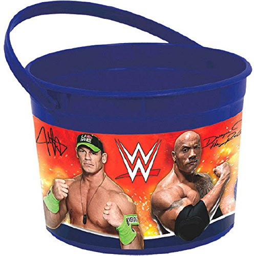 ' WWE Birthday Party Plastic Favor Bucket (1 Piece), 6 1/4