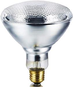 JK HEAT PLUS 175W B PAR38 Clear Infrared Heat Bulb Hard Glass 120-130V Hard Glass