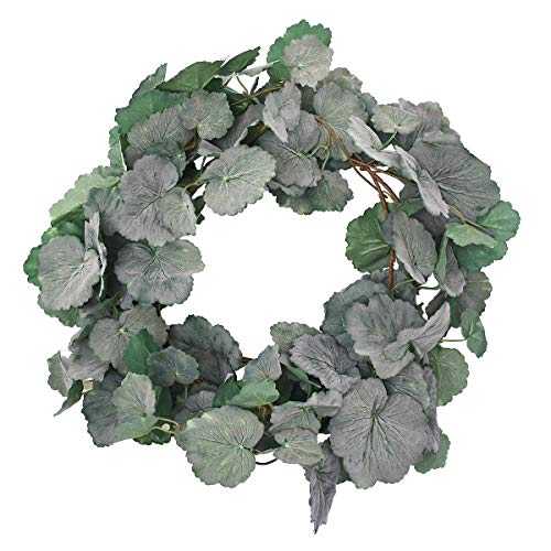 Begonia Leaves - Artificial Hanging Leaves Vines 2 Pack Fake Begonia Leaves Plant Leaves Garland in Green Indoor Outdoor Wedding Decor Party Supplies Greenery Crowns Wreath