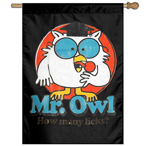 DIANA Mr. Owl Home Garden Flags Outside Banner-27'37' Inch Polyester Banner (Tootsie Roll Owl Costume)
