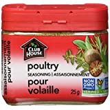 Club House, Quality Natural Herbs & Spices, Poultry Seasoning, Plastic Can, 25g