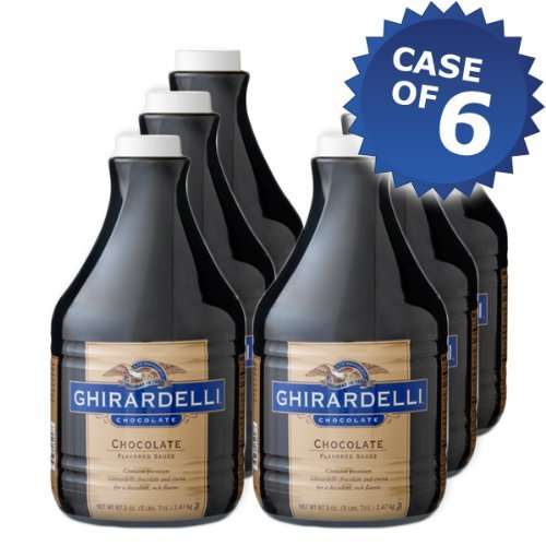 Ghirardelli Chocolate Flavored - 64oz Bottle (Case of 6) by Ghirardelli