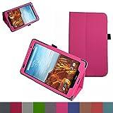 Ellipsis 8 / Ellipsis Kids 2015 Case,Mama Mouth Slim Folio 2-folding Stand Case Cover for 8' Verizon Ellipsis 8 4G LTE/Ellipsis Kids QTAQZ3KID 2015 Android Tablet,Pink