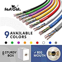 350MHZ // Gigabit Speed UTP LAN Cable fast Cat Insulated Bare Copper Wire Internet Cable with FastReel Gray CMR Cat5e Ethernet Cable 1000ft