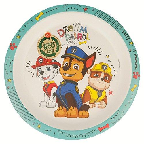 Paw Patrol La Patrulla Canina Plato Bambu con Orla Boy Dream Patrol', Color (STOR ST-01301)