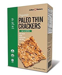 USDA Organic Paleo Thin Crackers (Low Carb -Gluten Free) Net Wt 8.4 Oz (238g)