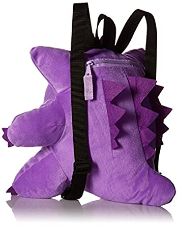 Pokemon Boys' Gangar Plush Backpack, Purple