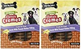 Three Dog Bakery 13-Ounce Classic Cremes Carob with Peanut Butter Filling Baked Dog Treats (2 Pack)