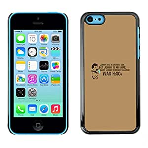 PC/Aluminum Funda Carcasa protectora para Apple Iphone 5C Chemistry Quote Funny Lab School H2O / JUSTGO PHONE PROTECTOR