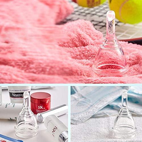 Copa menstrual - Válvula de descarga única Vacíe su copa sin sacar el juego de silicona orgánica, fácil de usar