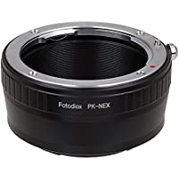 Fotodiox Lens Mount Adapter- PK-NEX, Pentax K/PK Lens to Sony Alpha Nex E-mount Camera Adapter, fit Sony NEX 3, Nex 5, NEX-VG10