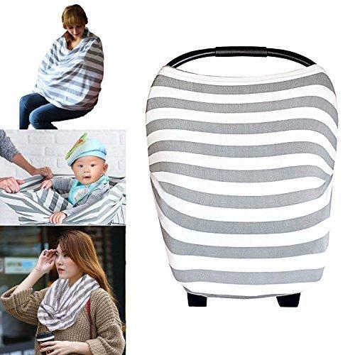 PPOGOO: funda de lactancia para lactancia super suave de algodón multiuso para bebé, fundas de asiento de coche, toldo,...