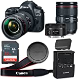Canon EOS 5D Mark IV 30.4 MP CMOS Digital SLR Camera with 3.2-Inch LCD with EF 24-105mm f/4L IS II USM Lens and EF 50mm f/1.8 STM Lens - Wi-Fi Enabled (Certified Refurbished)