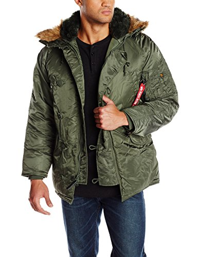 Alpha Industries Men's N-3B Parka, Sage, XL