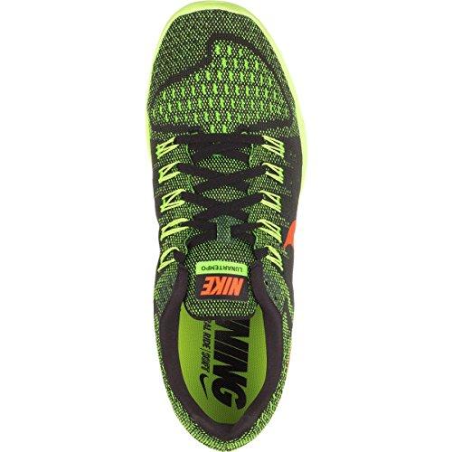 Nike Lunartempo Zapatillas de running, Hombre Negro / Naranja / Verde (Black / Hyper Orange-Grn Strike)