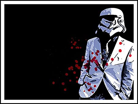 Imagenation Star Wars Stormtrooper Suit Blood Spots 60cm X 80cm Print On Repositional Self Adhesive Wallpaper Poster Amazon Co Uk Kitchen Home