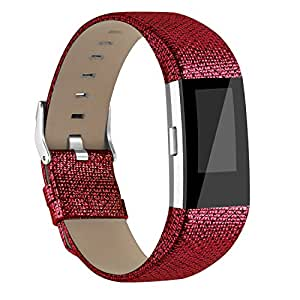 Amazon.com : AK for Fitbit Charge 2 Leather Band