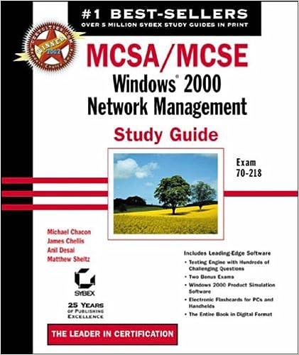 Book MCSA/MCSE: Exam 70-218: Windows 2000 Network Management Study Guide