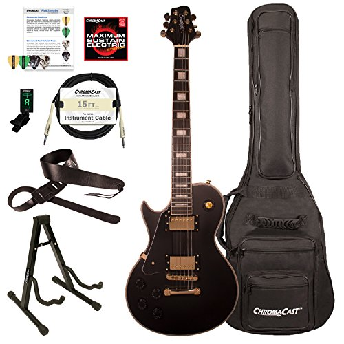 Sawtooth ST-H68C-LH-STNBK-KIT-1 Heritage Series Left-Handed Maple Top Electric Guitar, Satin Black