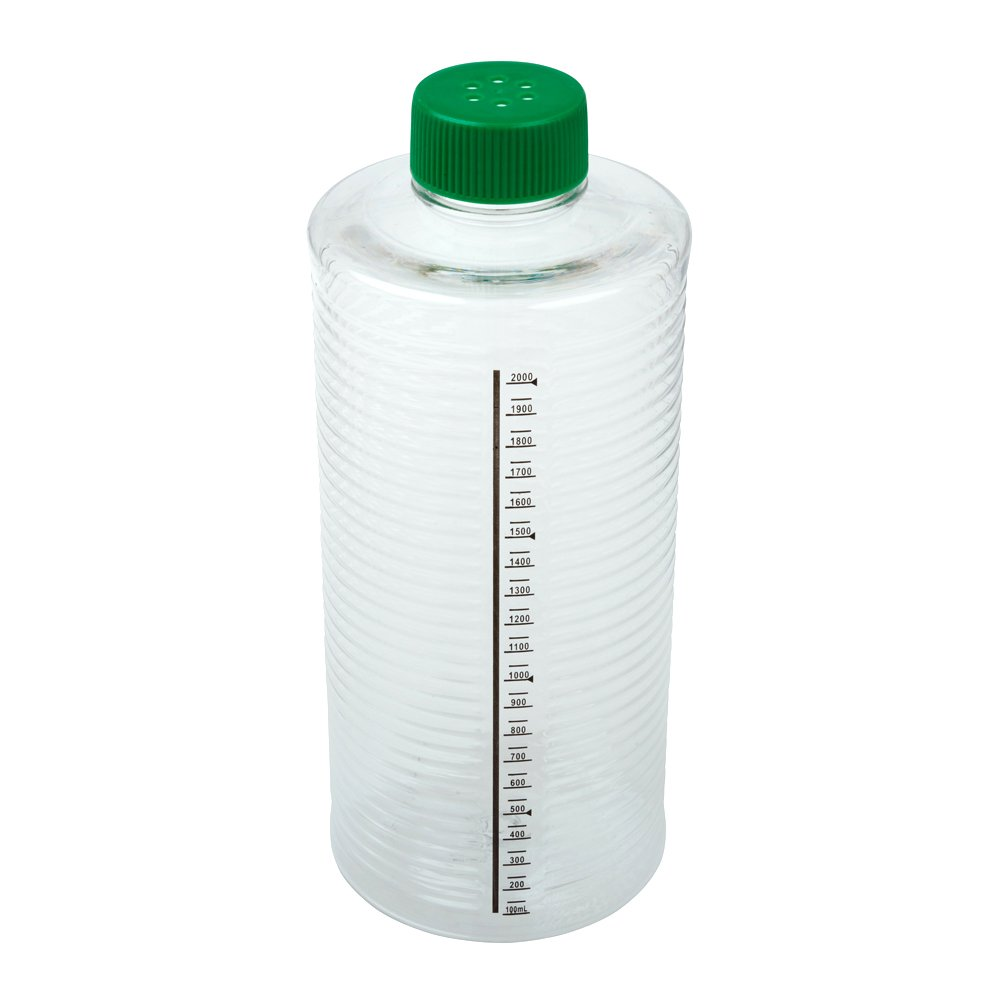 Celltreat 229387 1900cm² ESRB Roller Bottle, Tissue Culture Treated, Printed Graduations, Vented Cap, Sterile (case of 12)