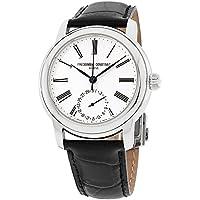 Frederique Constant Silver Dial Leather Strap Men's Watch