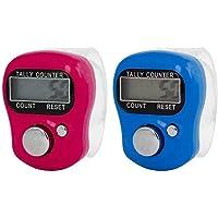 Turkha 2 Pcs Case Resettable 5 Digit LCD Electronic Finger Counter Hand Tally (Random Color Send)