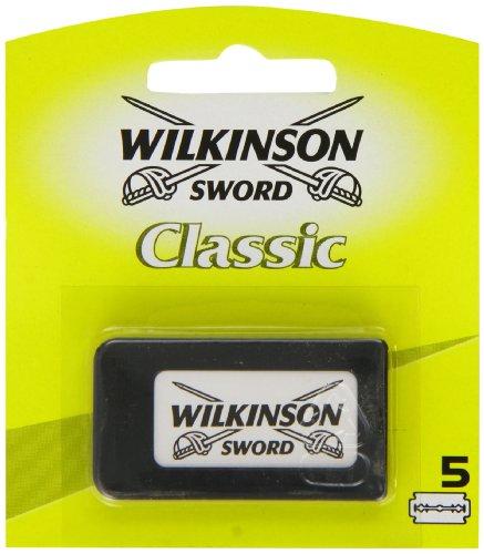 Wilkinson Sword Classic Double Edge Razor Blades, 5 Per Pack (1-Pack)