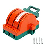 YaeTek 100Amp Disconnect Knife Switch 3 Pole Double Throw Breaker Backup Circuit Generator 3P 100A Orange