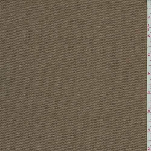 Ginger Brown Brushed Cotton Twill, Fabric by The Yard ()