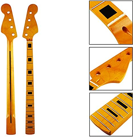 XUJJA 21 trastes Maple Wood 4 cuerdas Bajo Guitarra eléctrica JB ...