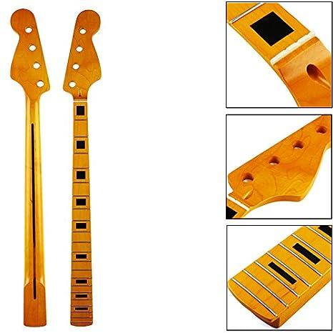 ERCZYO 21 trastes Maple Wood 4 cuerdas Bajo Guitarra eléctrica JB ...