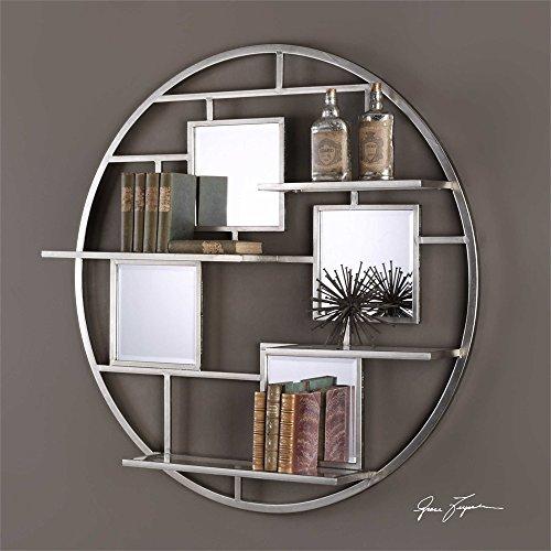 The Wall Shelf Zaria Mirrored Round Wall Shelf by Vhomes Lights