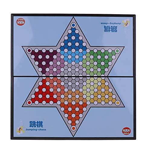 [해외]Fityle 큰 자기 접는 중국 체커 고전 전략 보드 게임을 정복 / Fityle Large Magnetic Folding Chinese Checkers Chequers Classic Strategy Board Game
