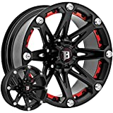 jeep 17 rims - Ballistic Jester 17x9 Black Wheel / Rim 5x5 with a -12mm Offset and a 83.70 Hub Bore. Partnumber 814790550-12FB