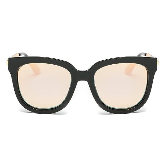 b290884c56 Amazon.com  Dasein Women Wayfarer Mirrored Polarized Sunglasses w ...