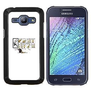 Jordan Colourful Shop - Calvin Hobb For Samsung Galaxy J1 J100 J100H Personalizado negro cubierta de la caja de pl????stico