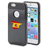 Apple iPhone 5 5s Shockproof Impact Hard Case Cover Spain Spanish Flag (Black )