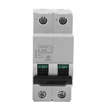 Disjoncteur CC etc. 32A syst/ème hybride /éolien et solaire 16A // 32A // 63A 1pc 250V CC Disjoncteur miniature air /à basse tension 2P pour syst/ème de r/éseau de panneaux solaires