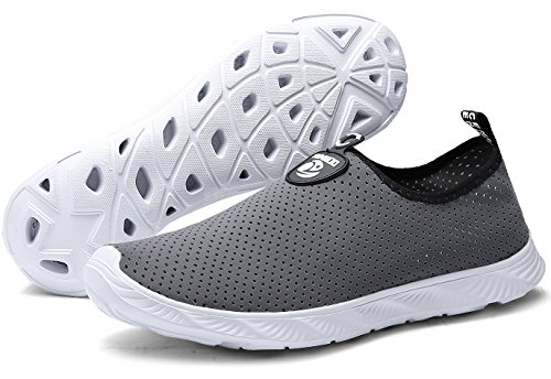 Lightweight and Aqua 902 Drying Slip Shoes Men's Quick Shoes Water YUNGOD Women's on grey Walking Athletic 1waPqx