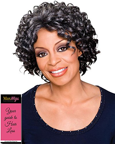 Rosemary Wig Color 2 - Foxy Silver Wigs Voluminus Curly Ringlets Monofilament 3/4 Cap African American Lightweight Bundle w/MaxWigs Hairloss Booklet