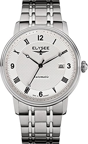 ELYSEE Men's 77004S Executive-Edition Analog Display Automatic Self Wind Silver Watch