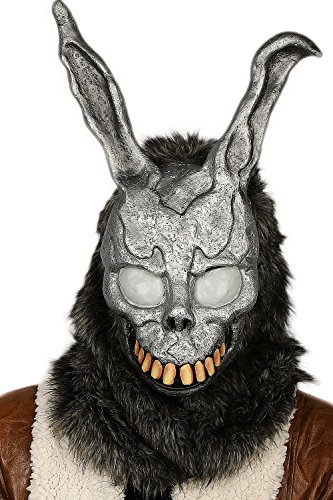 Frank Rabbit Mask Bunny Fullhead Cosplay Props for Adult Halloween Grey