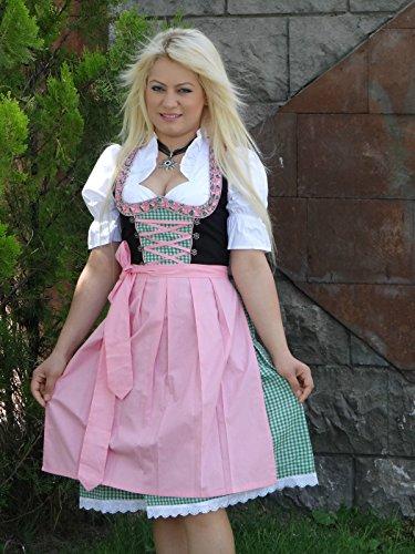 3 36 rosa Alpenmärchen Taglia set trachtenkleid rosa Blouse Dirndl 52 Grün verde Grembiule Alm326 0UqEpqPgf