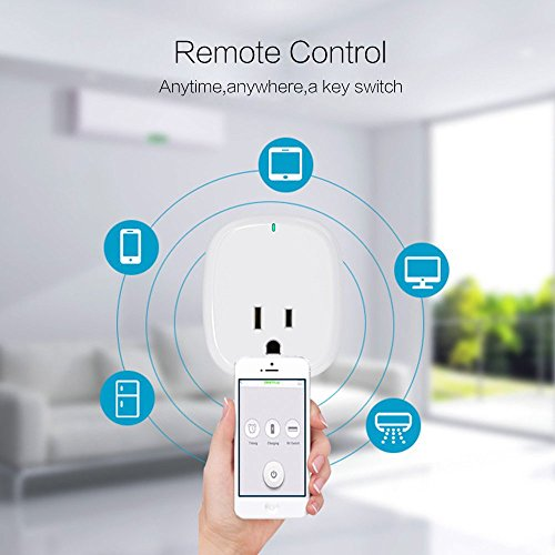 WiFi Smart Plug, Smart Outlets ,Smart Socket No Hub Required,Works with Amazon Alexa Echo and Google Home Assistant IFTTT, Controls Your Devices from Anywhere,with 5V 1A USB Charging Port ( 1-Pack) by Pilence (Image #2)