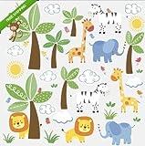 New JUNGLE ANIMALS FRIENDS wall stickers 47 decals safari zoo baby nursery decor