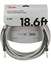 Fender Professional 10' Instrument Cable - Grey Tweed - 1/4 Inch Straight