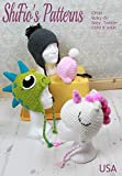 Crochet Pattern for Unicorn, Dinosaur Hat, Helmet, Beanie, Bulky, 4 Sizes, Baby, Toddler, Child, Adult, CP361: more info